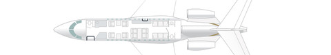 Floor plan Falcon 7X
